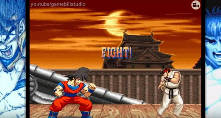 Goku shows his fighting talent in a Street Fighter 2 fan-made video
