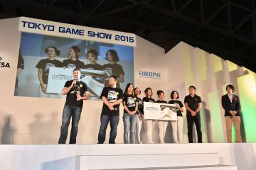 The winners of the Future Division of the Japan Game Awards 2015