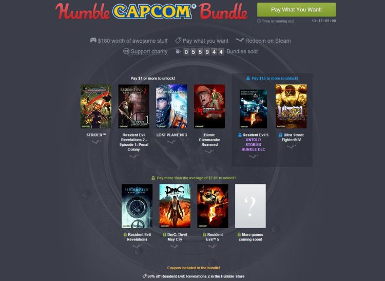 Game Discounts via Steam and Humble Bundle start today