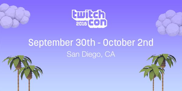 Twitch announces TwitchCon 2016