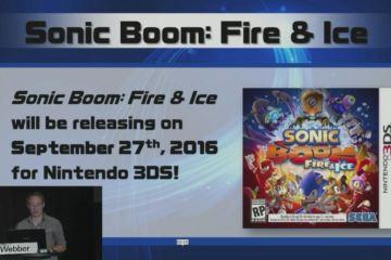 Sonic Boom: Fire & Ice para el 3DS se estrenará en septiembre