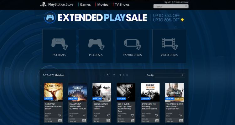 Game discounts continue at the PlayStation Store