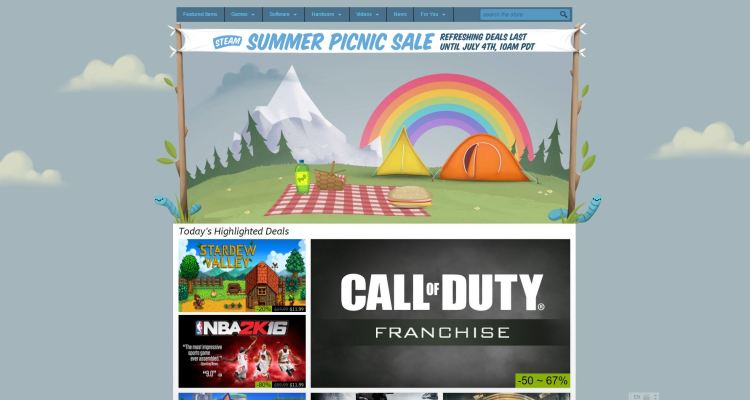 Steam's Summer Picnic Sale has begun with 100+ offers