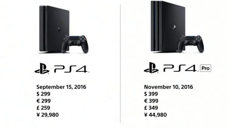 PlayStation 4 Pro vs PlayStation 4