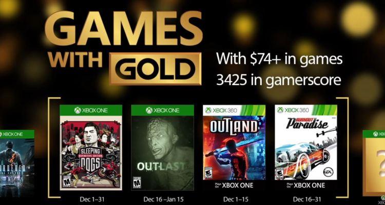 Games with Gold - Diciembre de 2016