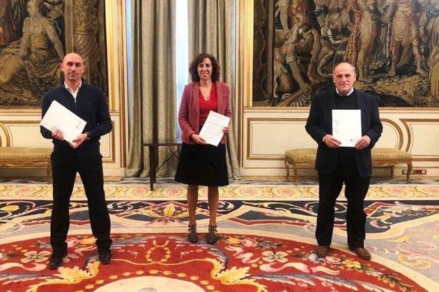 Luis Rubiales Irene Lozano Javier Tebas EuropaPress