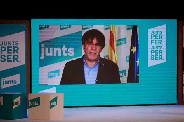 Carles puigdemont jxcat 14f igualada / Julio Díaz