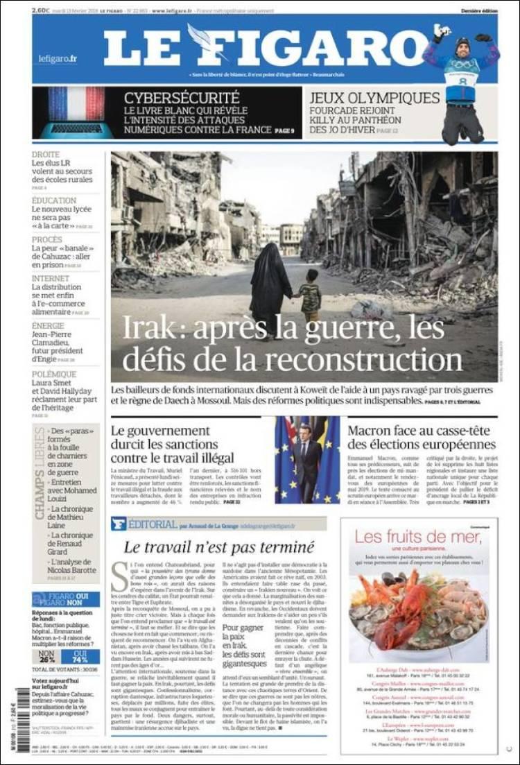 Le Figaro Portada 13 02 2018
