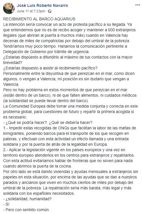 1 RECIBIMIENTO AL BARCO AQUARIUS La intención José Luis Roberto Navarro