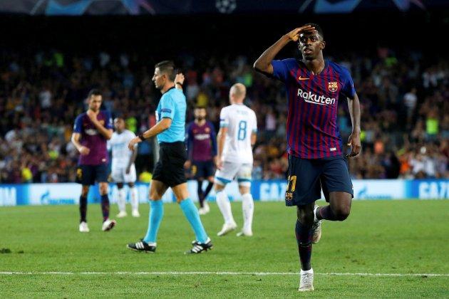 Ousmane Dembélé Barça PSV Champions EFE