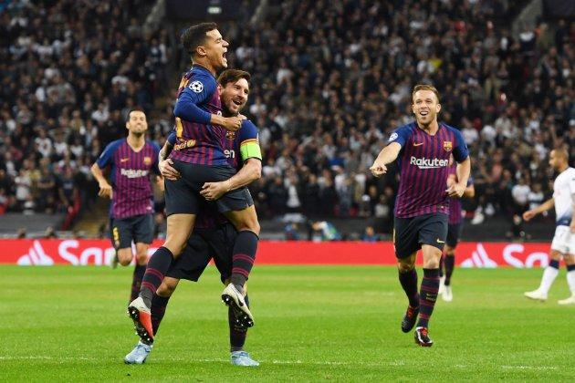 Gol Barça Tottenham Champions Coutinho Messi EFE