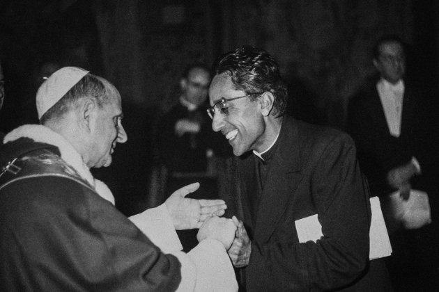 PANIKKAR amb Pau VI Roma Italia 1966