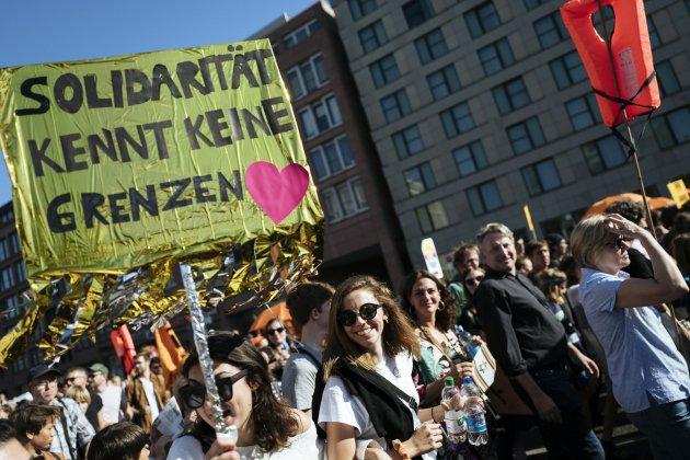 manifestació antifeixista Berlin EFE