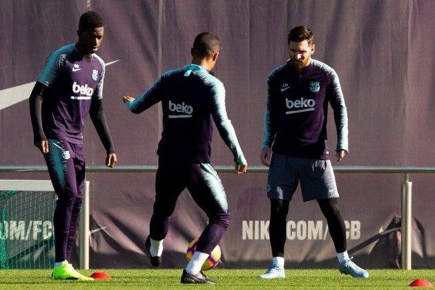 Messi entrenament Barça EFE