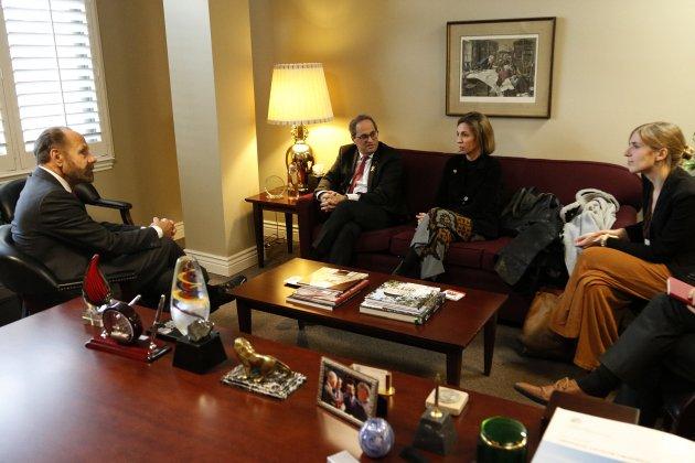 Reunio president Quim Torra i consellera Àngels Chacón congresista California - ACN