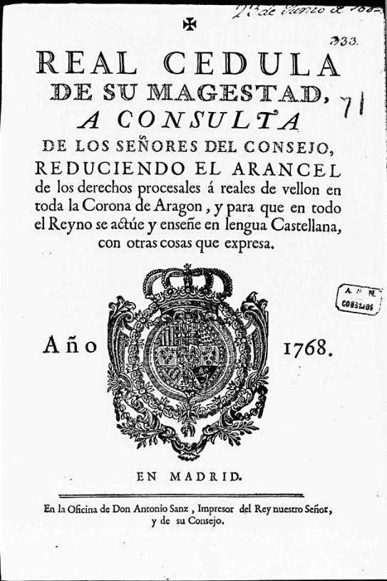 Resultat d'imatges de Carlos III uso del catalán