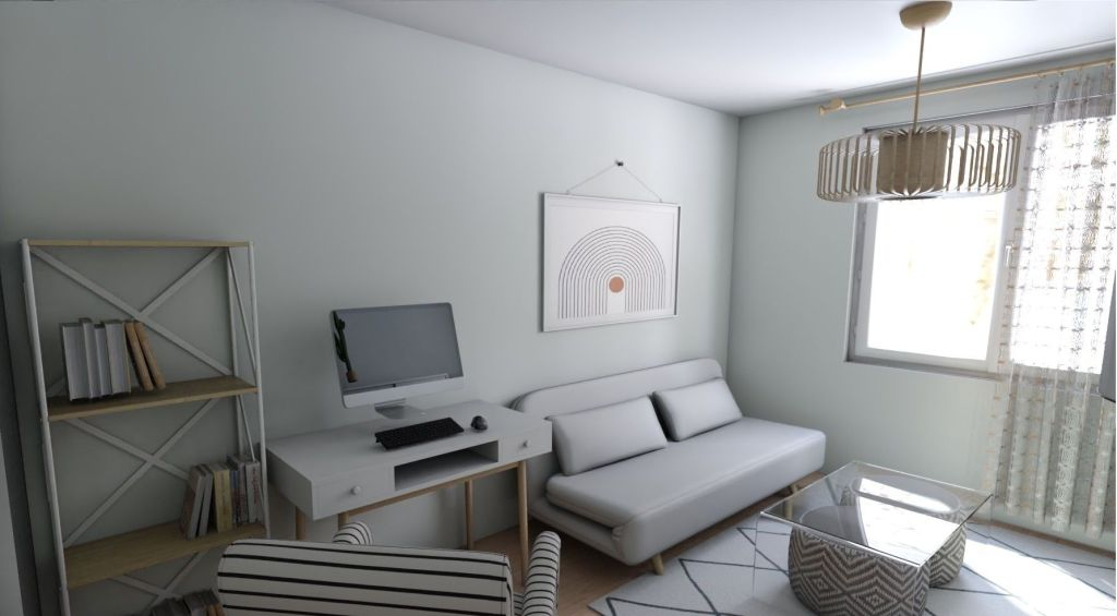 Salón en colores neutros diseño de Vanessa Naveira
