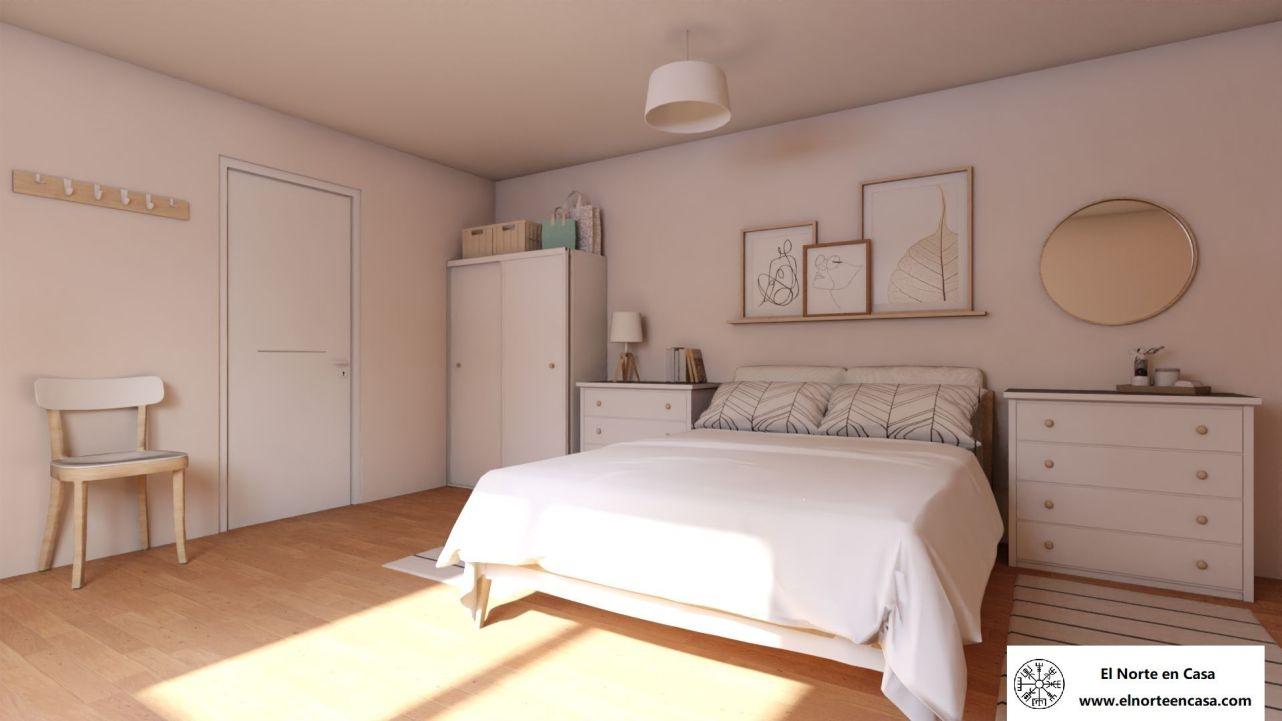 dormitorio nórdico de matrimonio en Ikea