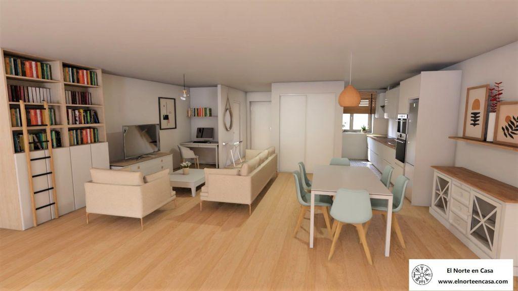 reforma con muebles nordicos