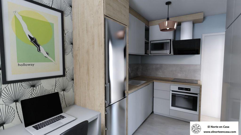Diseño de cocina para minicasa