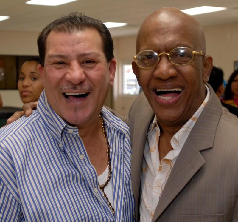 En 2009, con Roberto Rohena, durante el Tercer Congreso Inteuniversitario de la Salsa, en la UPR de Humacao. FOTOS ANGEL LUIS GARCIA / EL NUEVO DIA