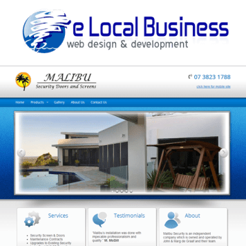 Web Design – Security Business – Home Improvement Business