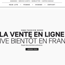 H&M lance son e-shop