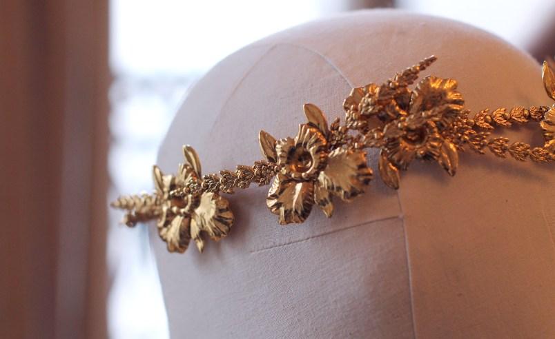 headband doré bijoux