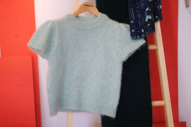 pull mohair manches courtes