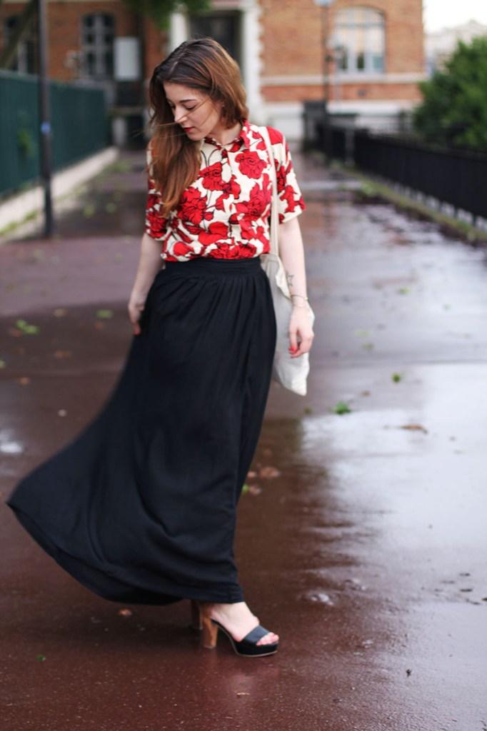 jupe longue noire