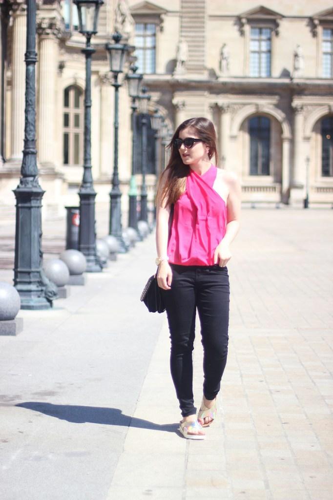 look rose et noir