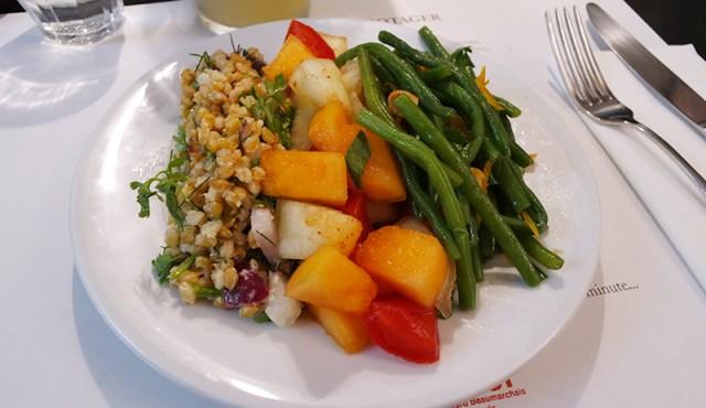 salade épeautre melon haricots verts