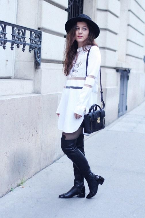 robe blanche alexander wang h&m