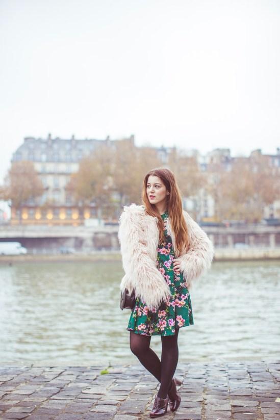 manteau poils long