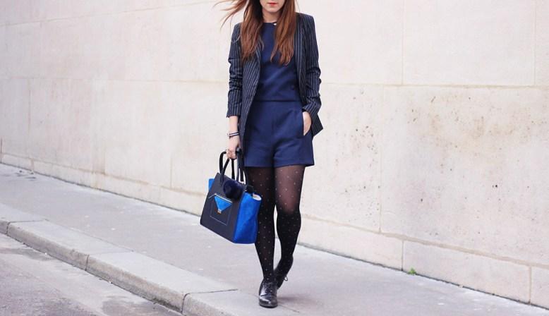 combishort zara bleu