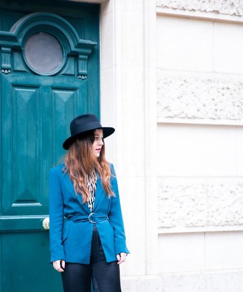 blazer bleu