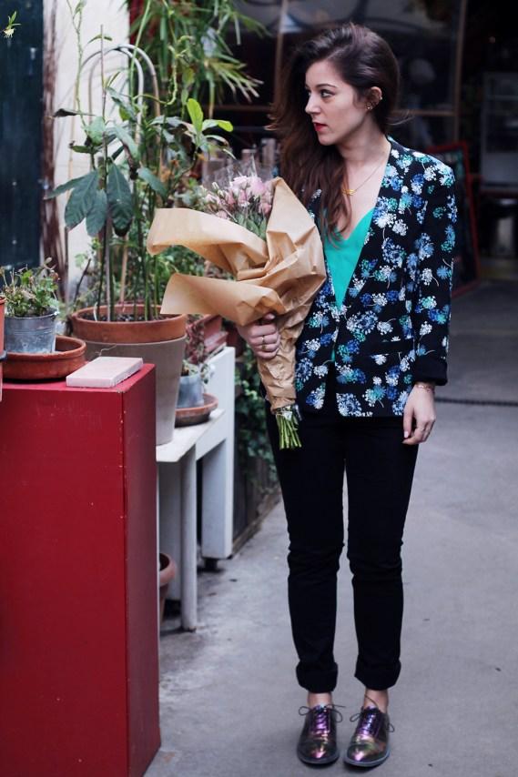 veste a fleurs comptoir des cotonniers