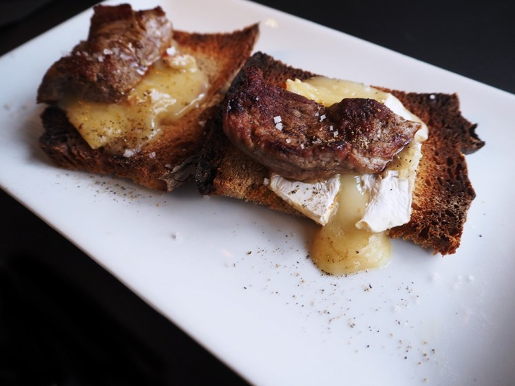 tartine boeuf fromage