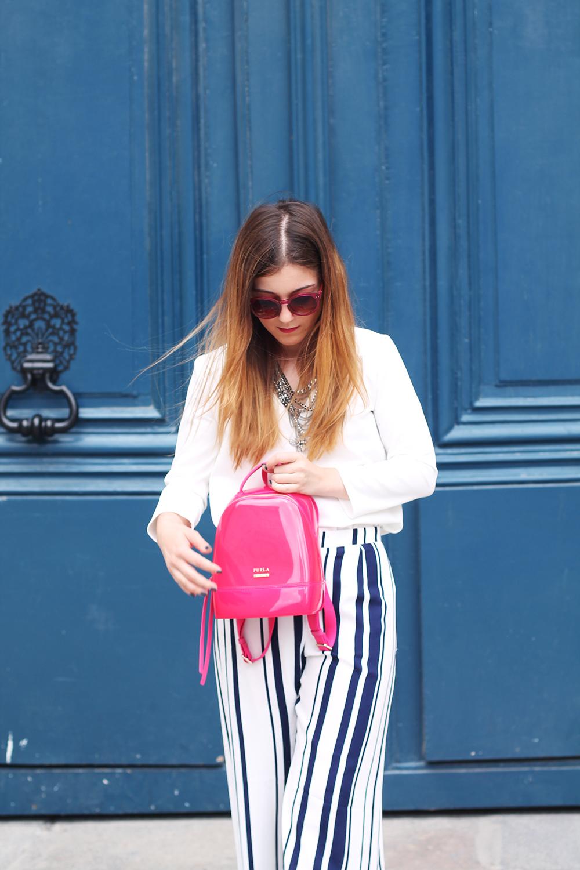 pink furla wide pants elodie in paris. Black Bedroom Furniture Sets. Home Design Ideas