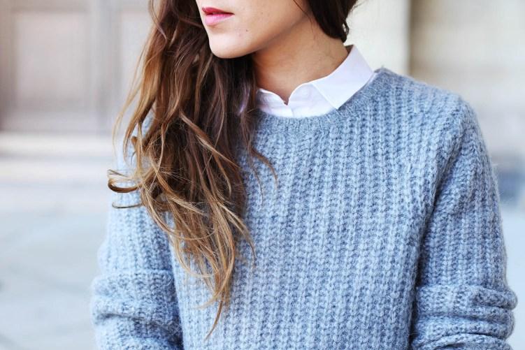 pull knit grey