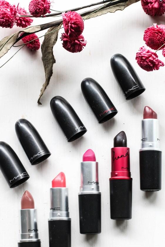 M.A.C. lipsticks
