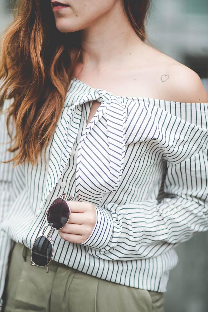 blouse rayures