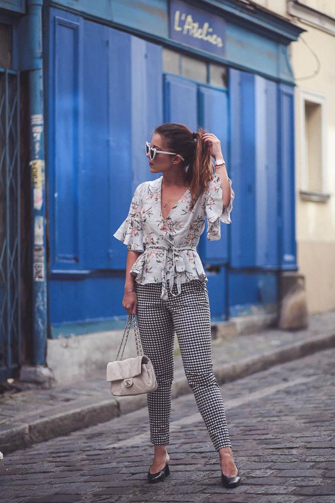 blouse floral zara