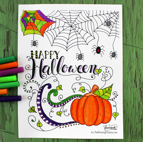 151030 happy halloween coloring page 1 Happy scary coloriage !