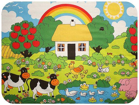 140722 tissu retro enfant Les jolis imprimés : les tissus