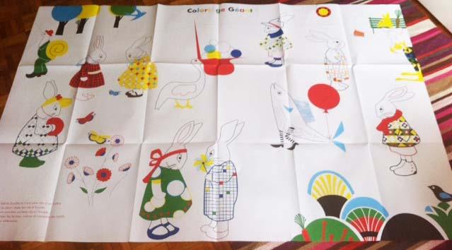 140723 coloriage geant Tapis dactivités : les animaux par Delphine Chedru