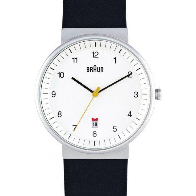 141210 braun analogique blanc bracelet cuir noir bn0032whbkg Le dilemme du cadeau au masculin