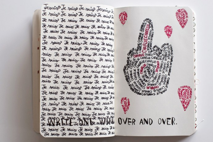 150118 saccage ton carnet2 690x460 Wreck this journal : lart de saccager en beauté un carnet