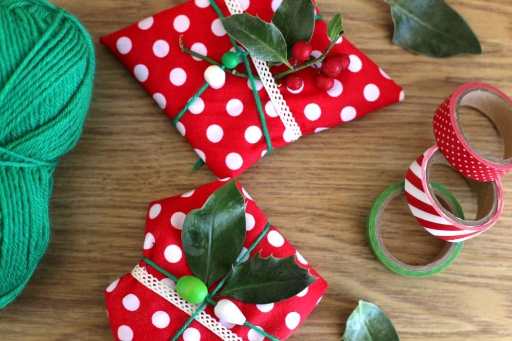 151126 emballage cadeau Emballer ses cadeaux avec des coupons de tissus