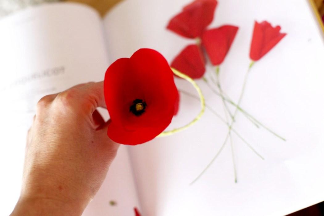 160307 fleurs papier coquelicots Gentils coquelicots mesdames, gentils coquelicots crépon ...
